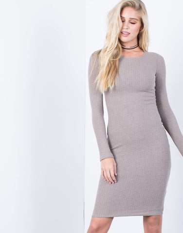 The Waffle Bodycon Dress - 2020AVE