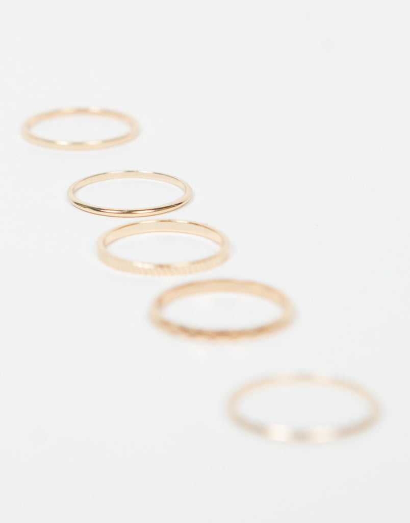 The Five Band Midi Ring Set - 2020AVE