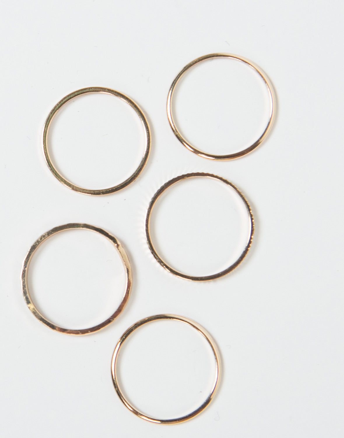 The Five Band Midi Ring Set
