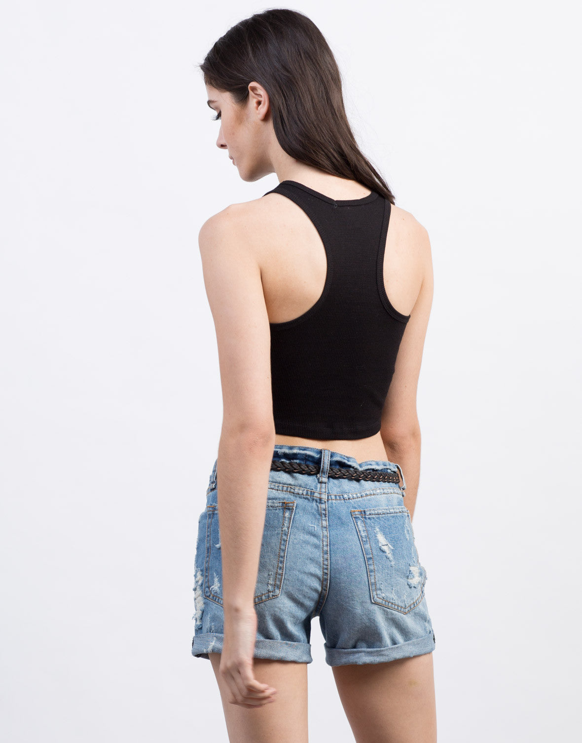 Back View of Thermal Crop Top