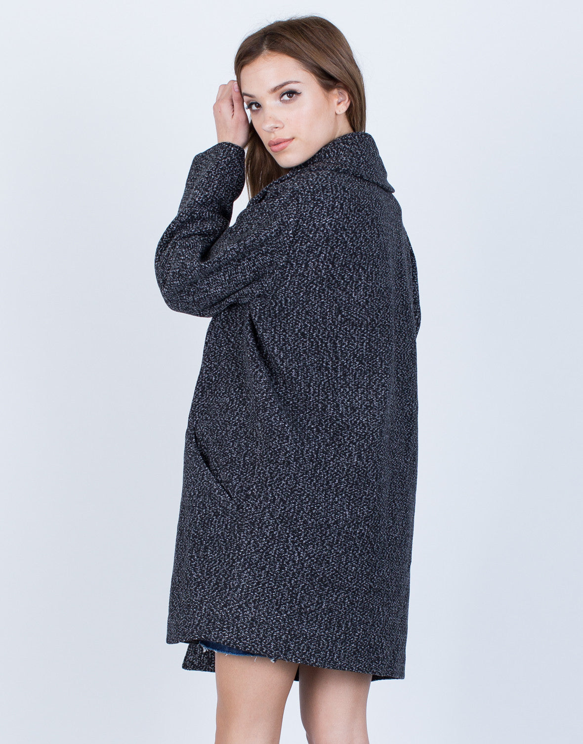 Thick Heathered Coat - Large