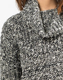 Detail of Thick Mixed Knit Sweater