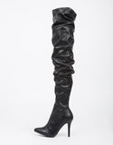 Thigh High Leather Heel Boots - 2020AVE