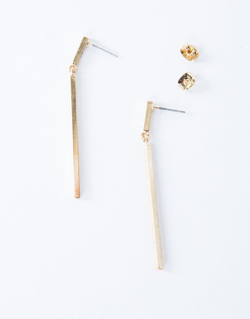 Thin Drop Bar Earrings