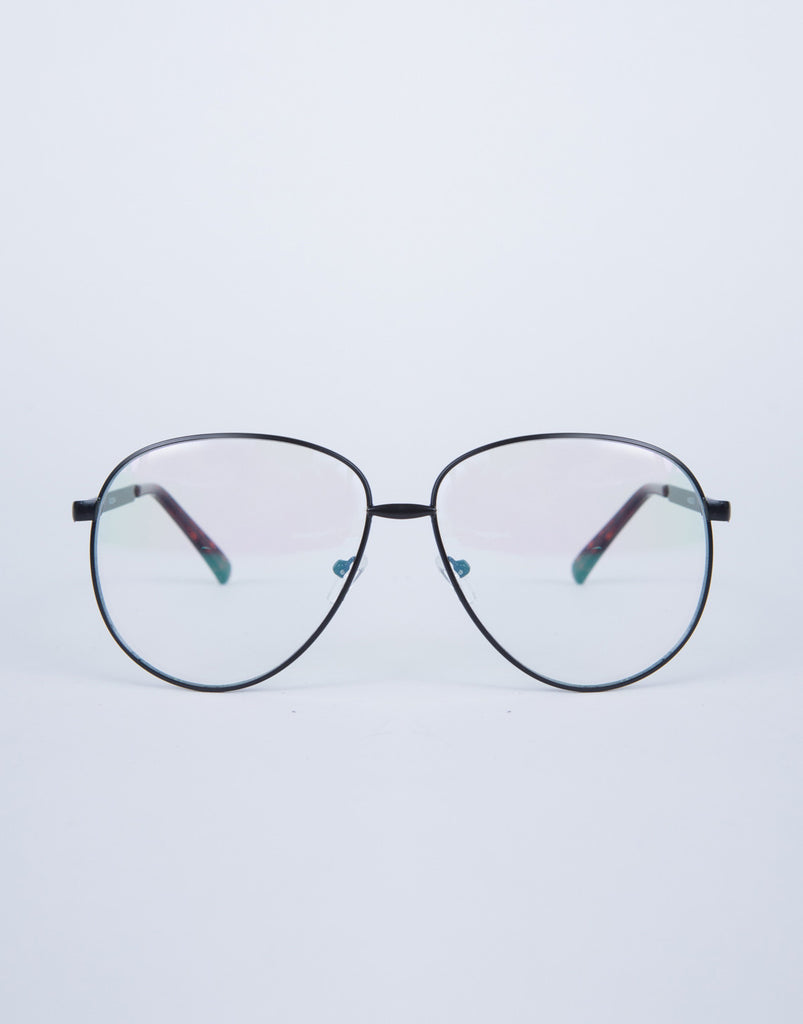 Thin Framed Clear Glasses