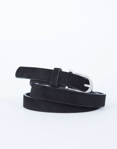 Thin Suede Belt