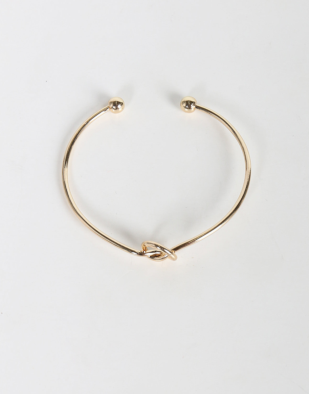 Thin Knotted Bracelet Cuff