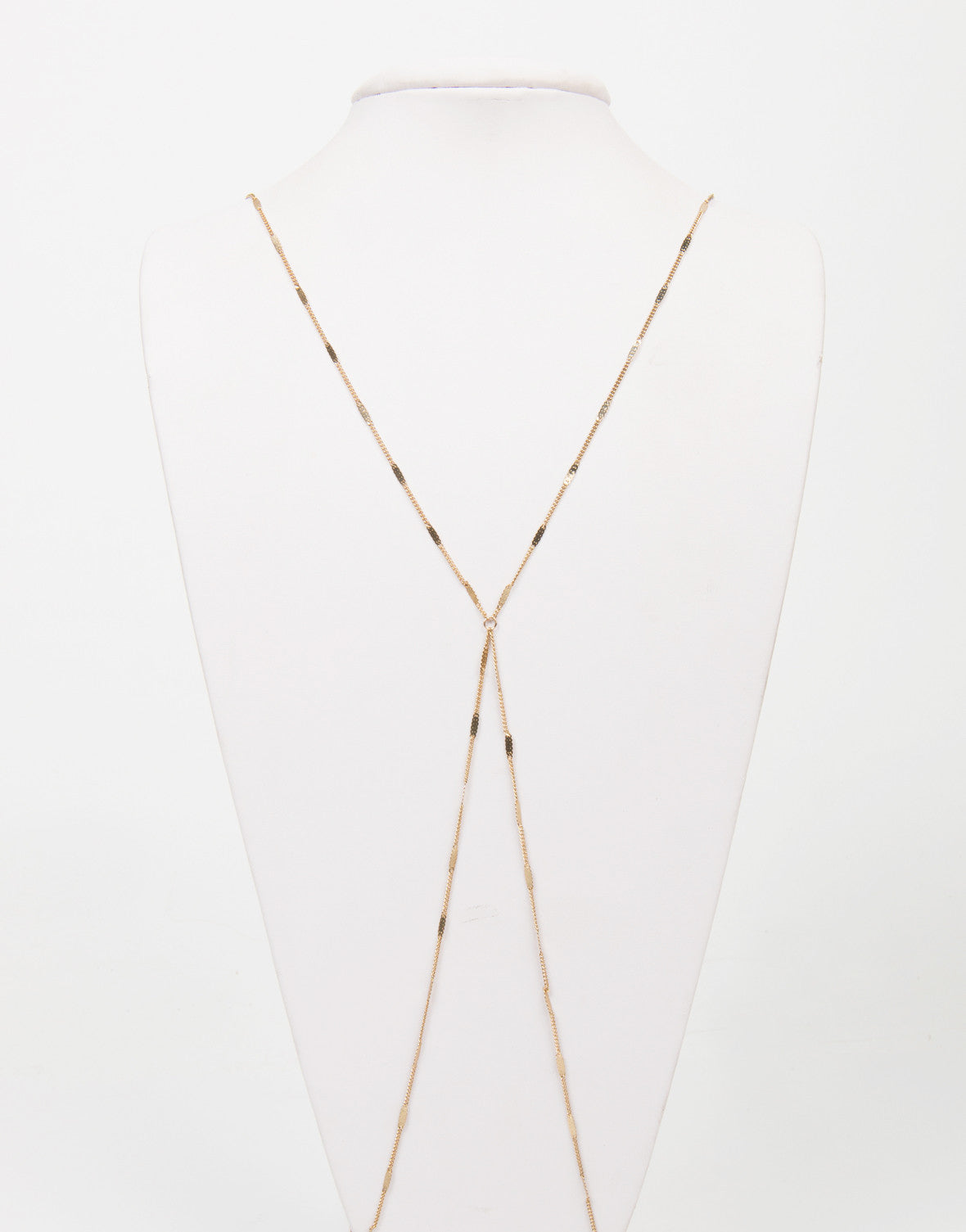 Front View of Thin Mini Bar Body Chain