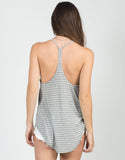 Back View of Thin Striped Racerback Tank