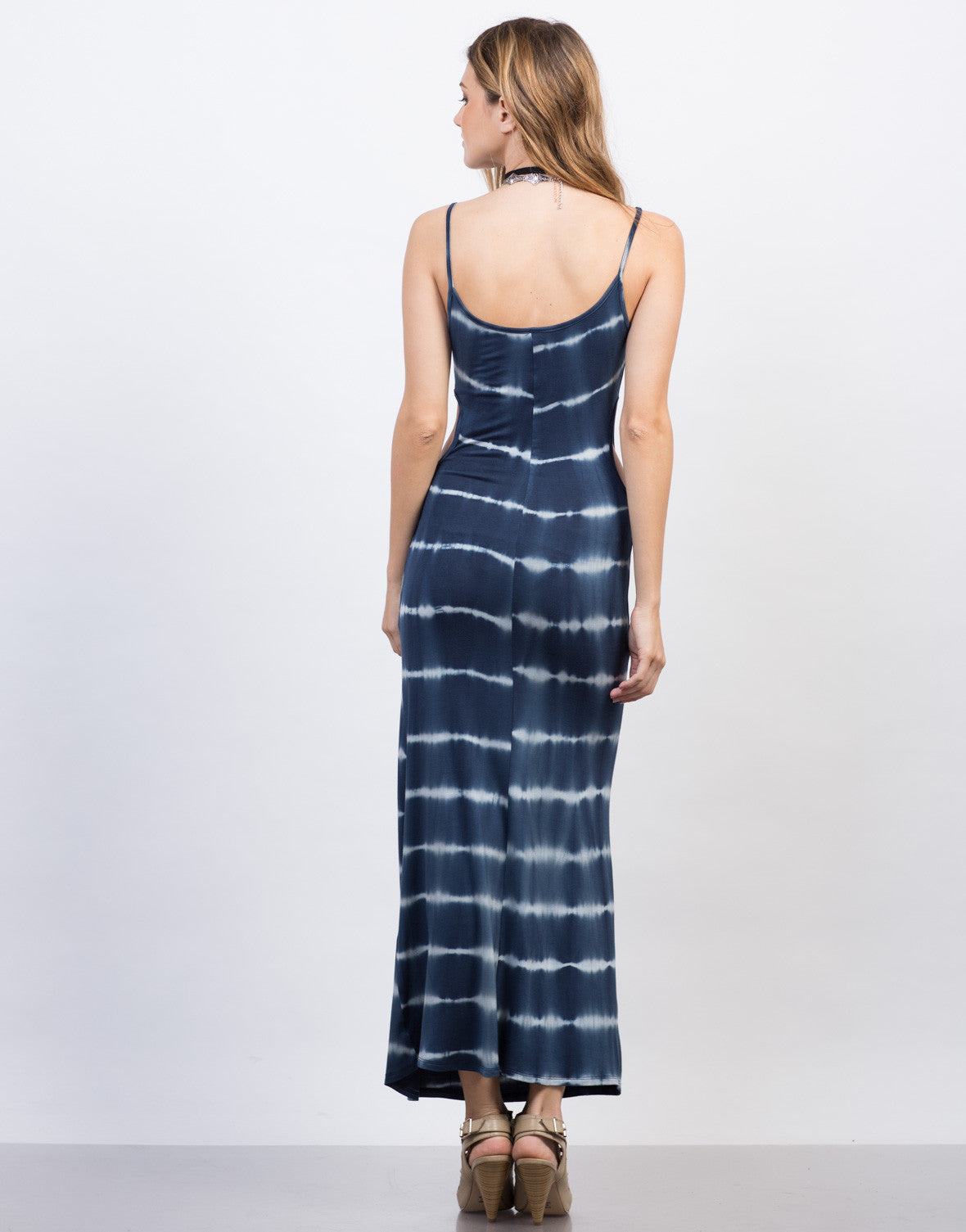 Tie-Dye Cut Out Maxi Dress