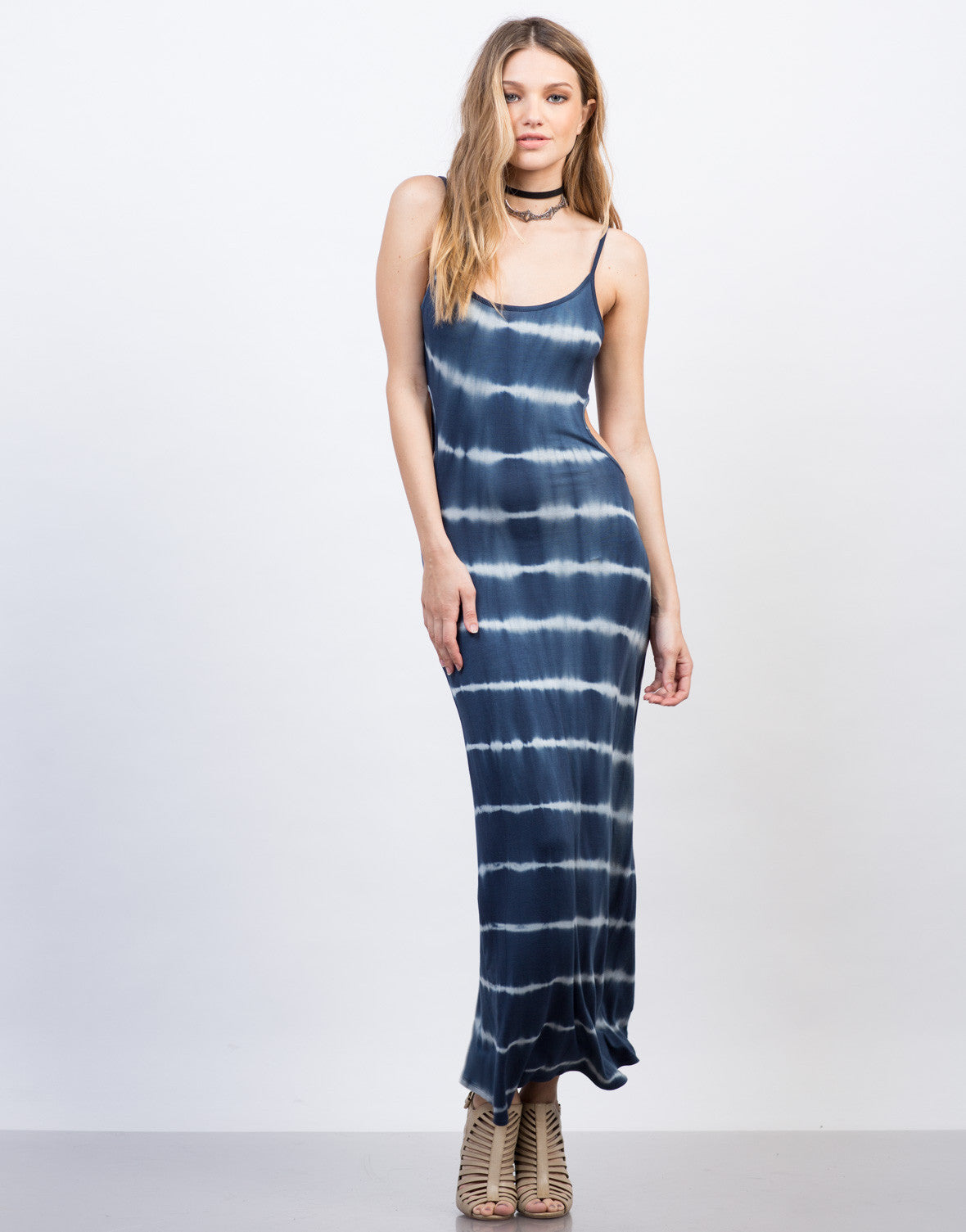Tie-Dye Cut Out Maxi Dress - 2020AVE