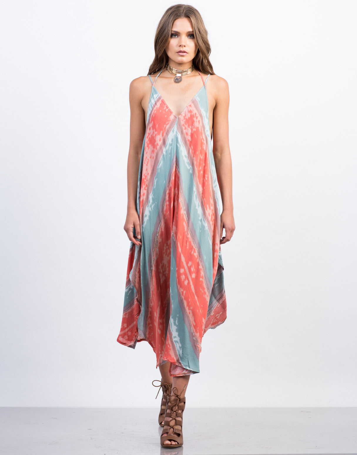 Tie-Dye Drape Dress - 2020AVE