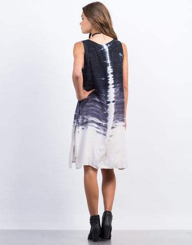 Back View of Tie-Dye Shift Dress