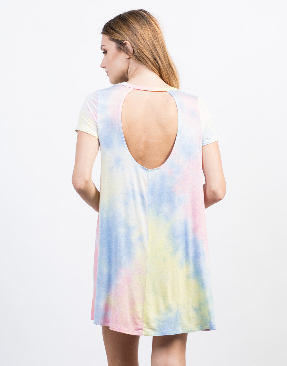 Back View of Tie-Dye Dress