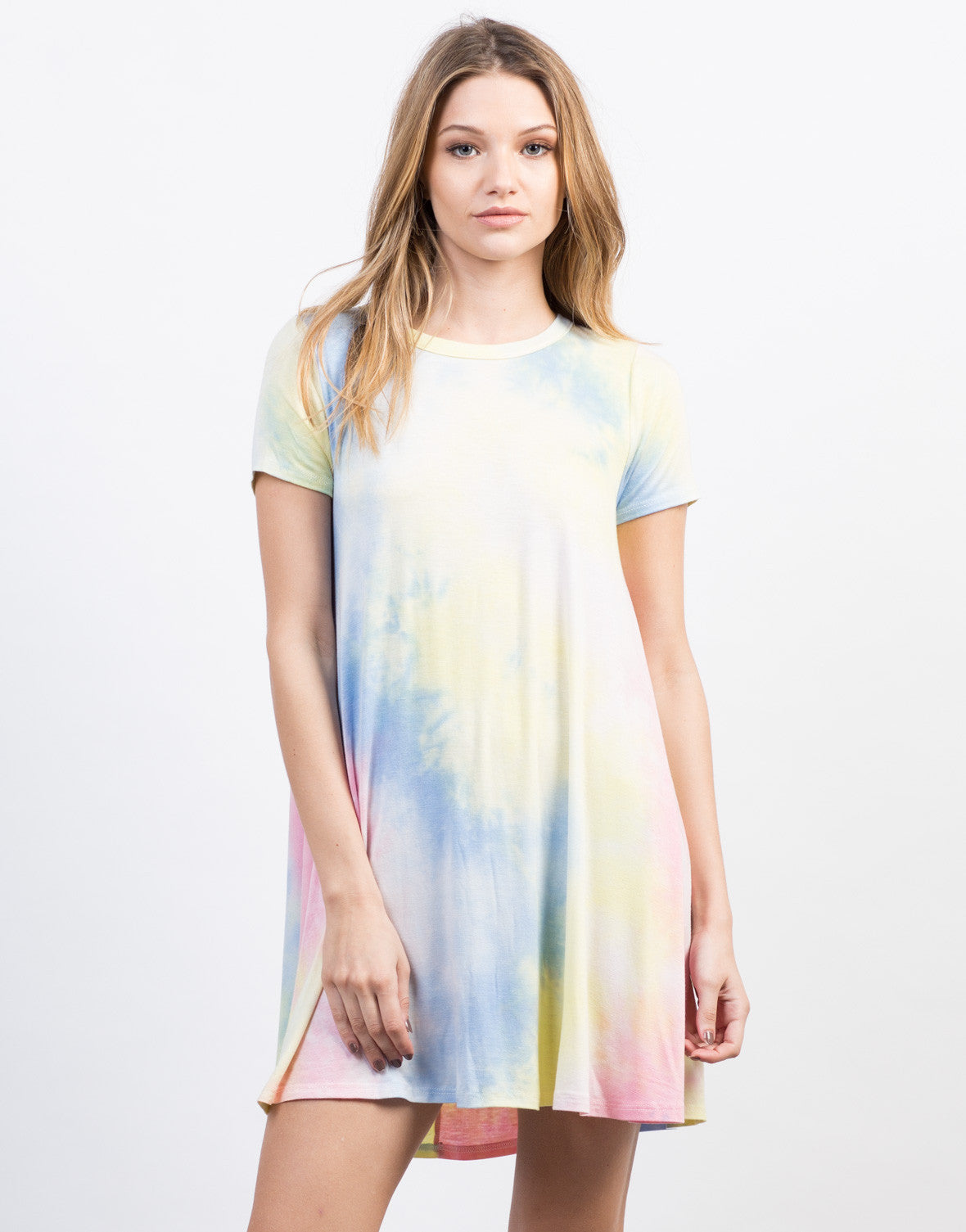 Front View of Tie-Dye Dress