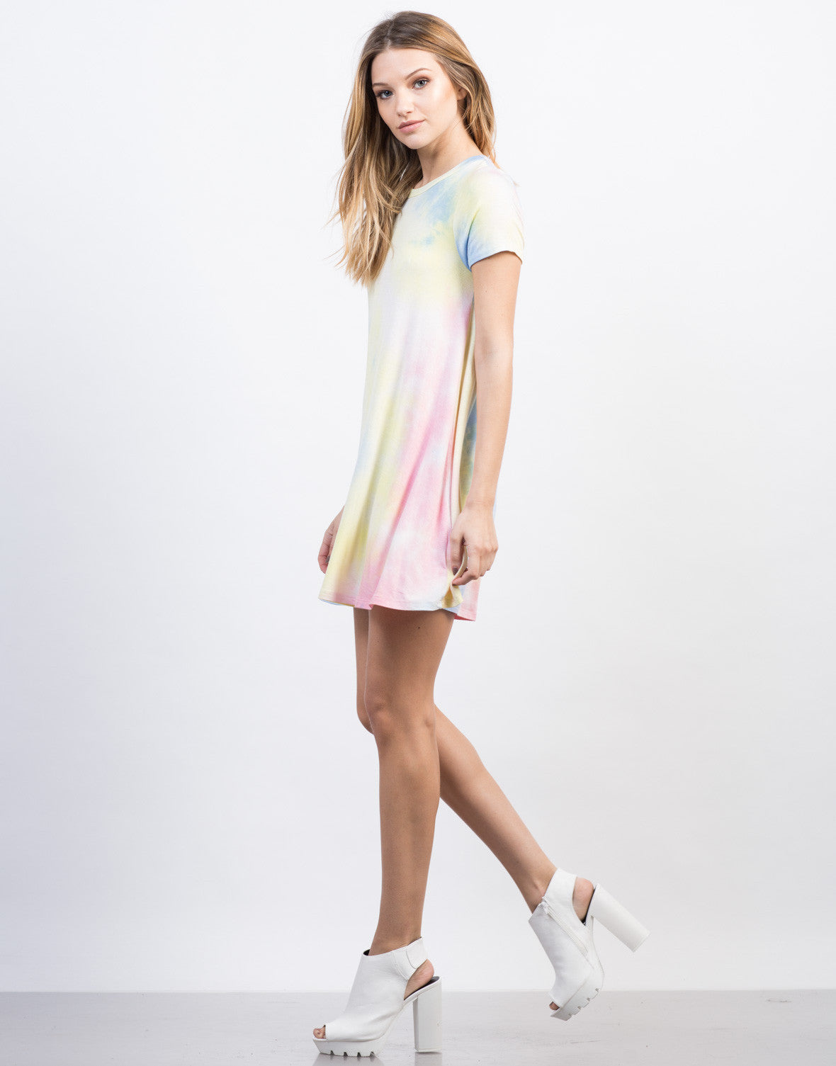 Side View of Tie-Dye Dress