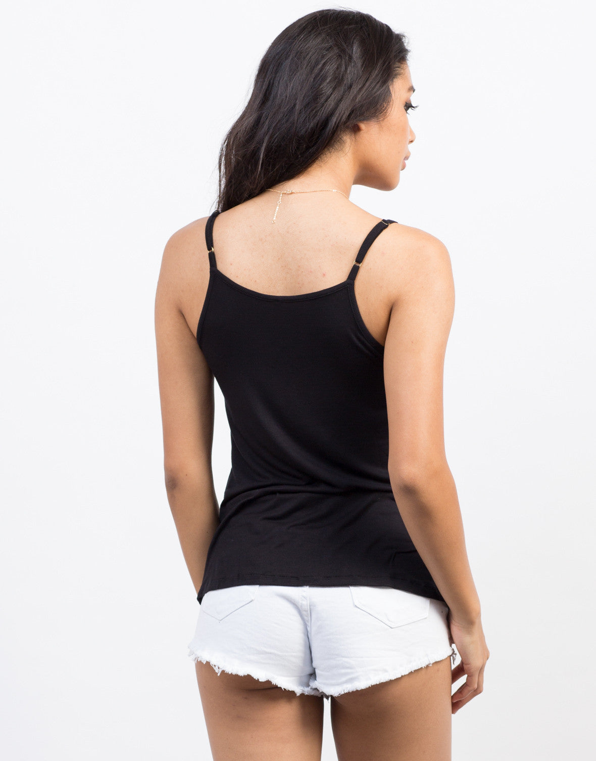 Back View of Tie Front Cami Tank
