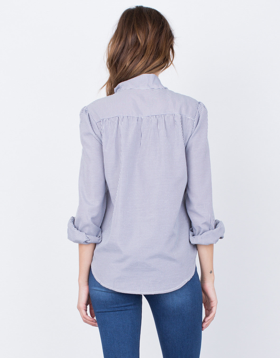 Back View of Tie Me Around Blouse