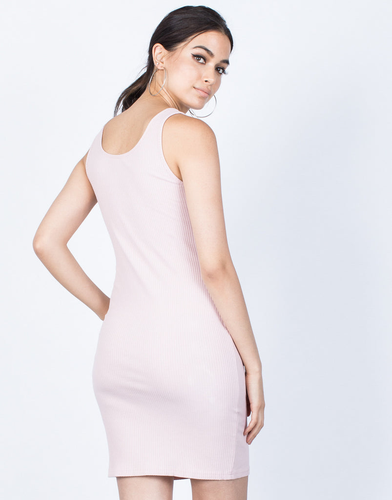 Back View of Tied in Knit Dress