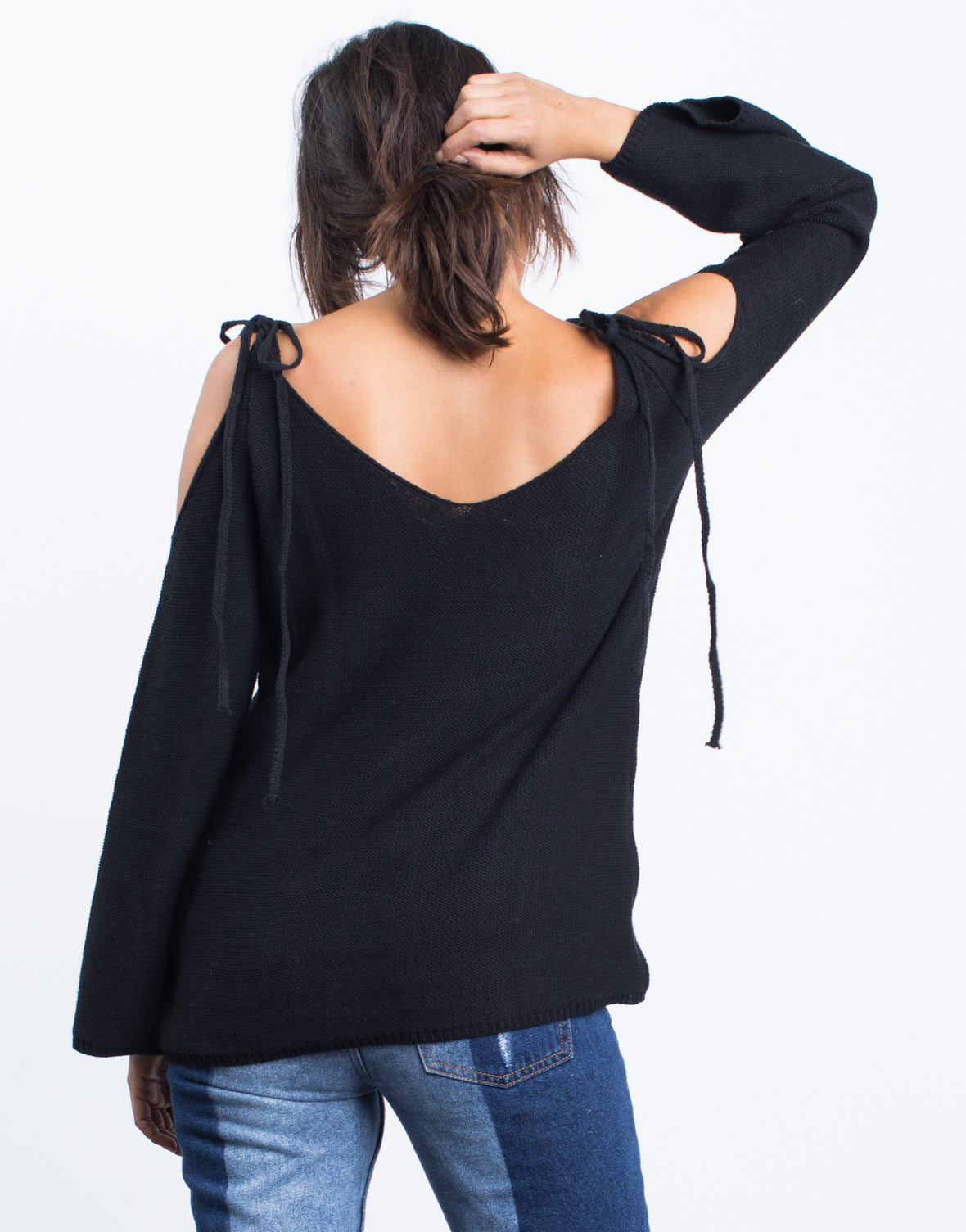 Tied Shoulder Sweater Top