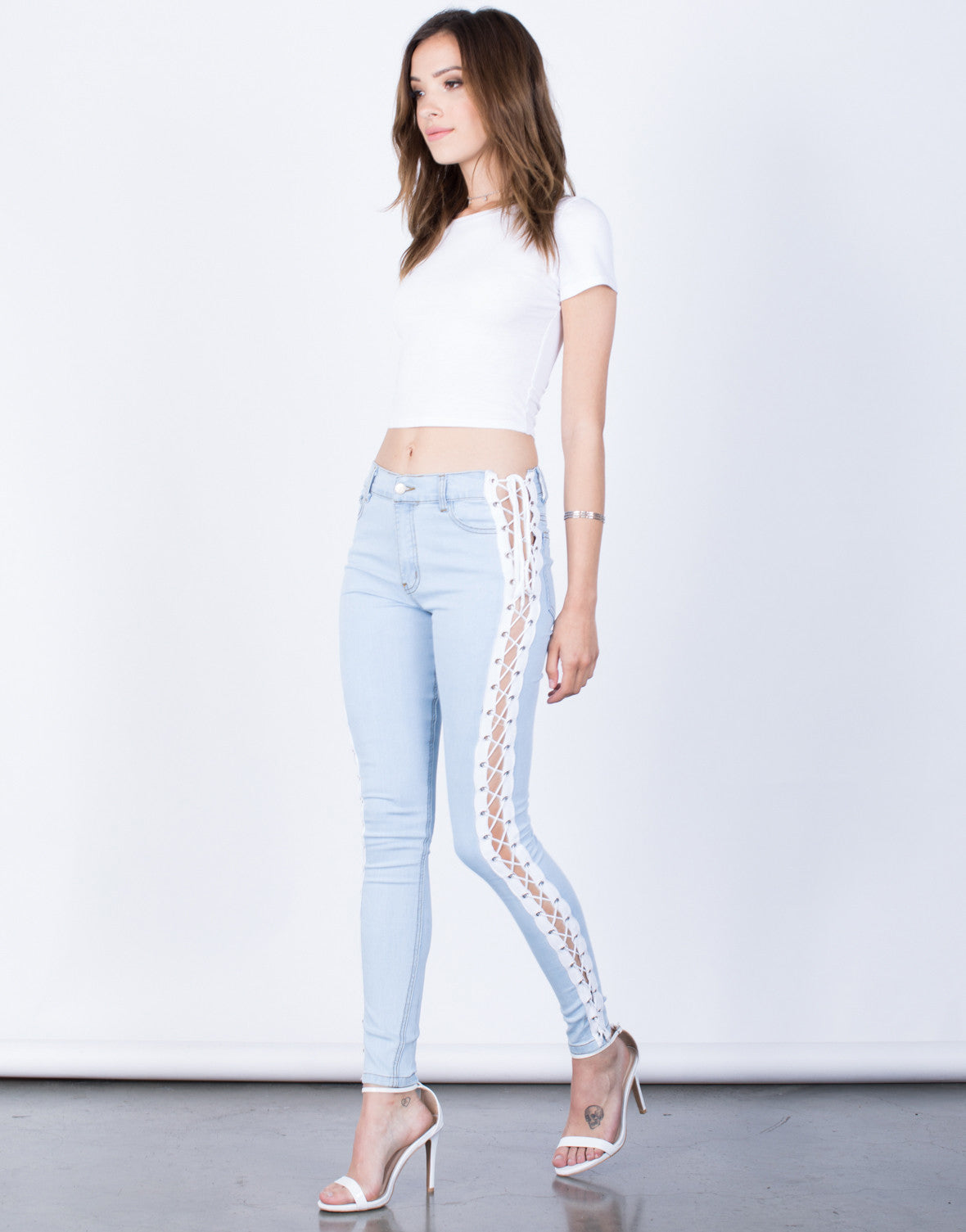 Side View of Tied Together Jeans