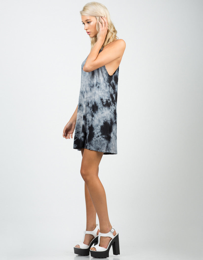 Side View of Tie-Dye Cami Dress