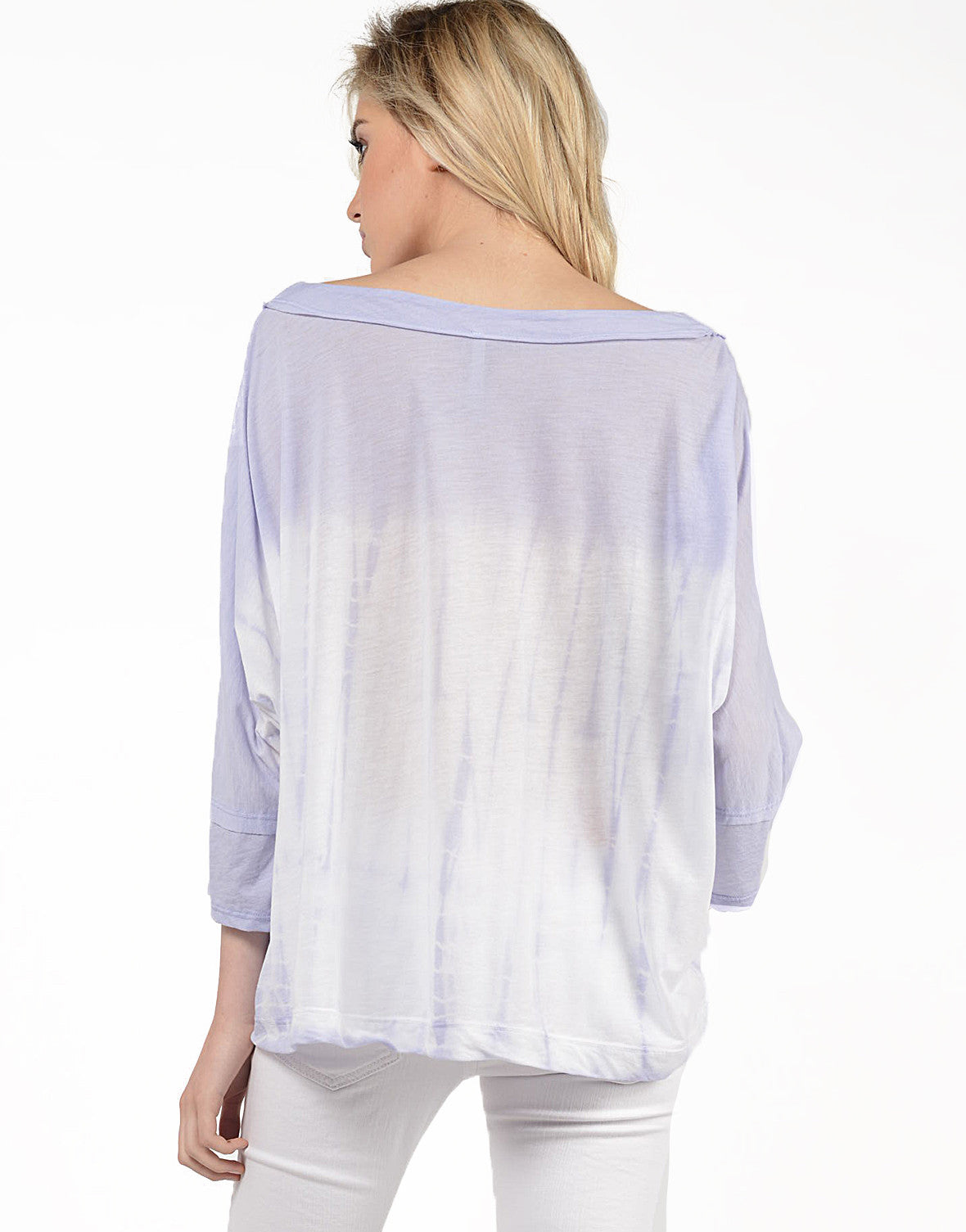 Back View of Tie-Dye For Dolman Top