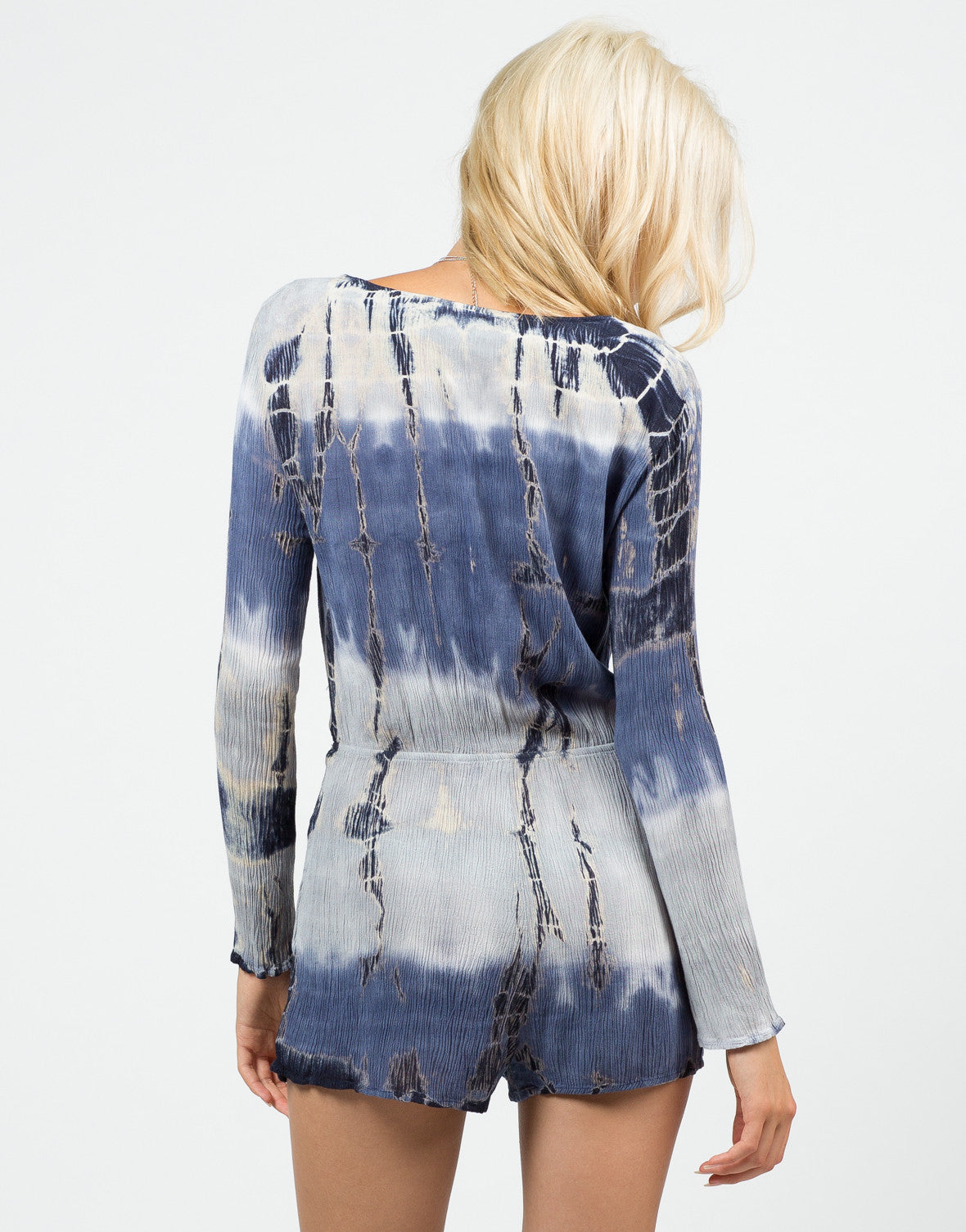 Back View of Tie-Dye Gauze Romper