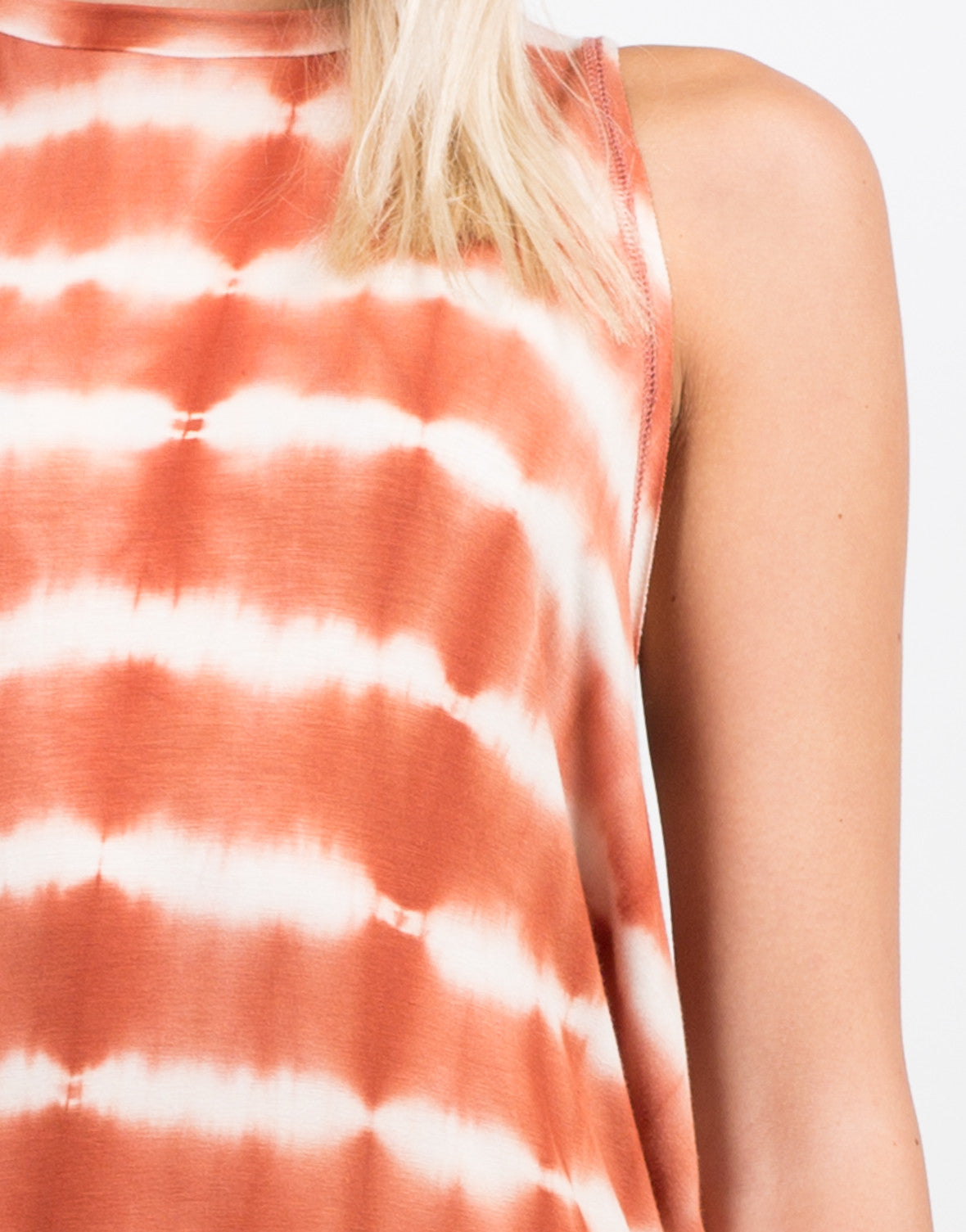 Detail of Tie-Dye Hi Low Tunic Dress