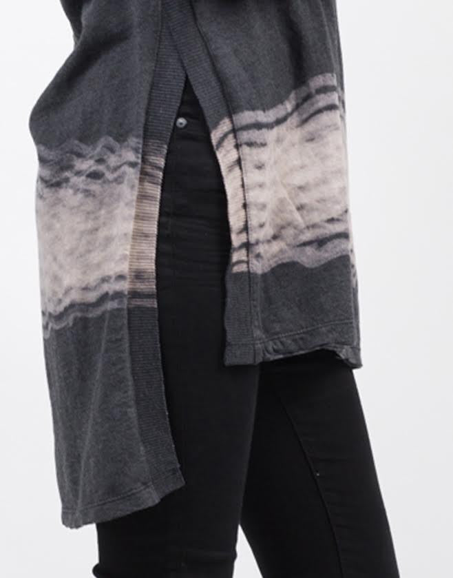 Detail of Tie-Dye Slit Top