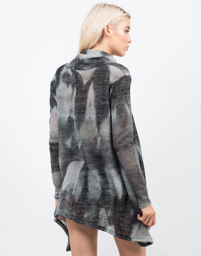 Back View of Tie-Dye Sweater Top