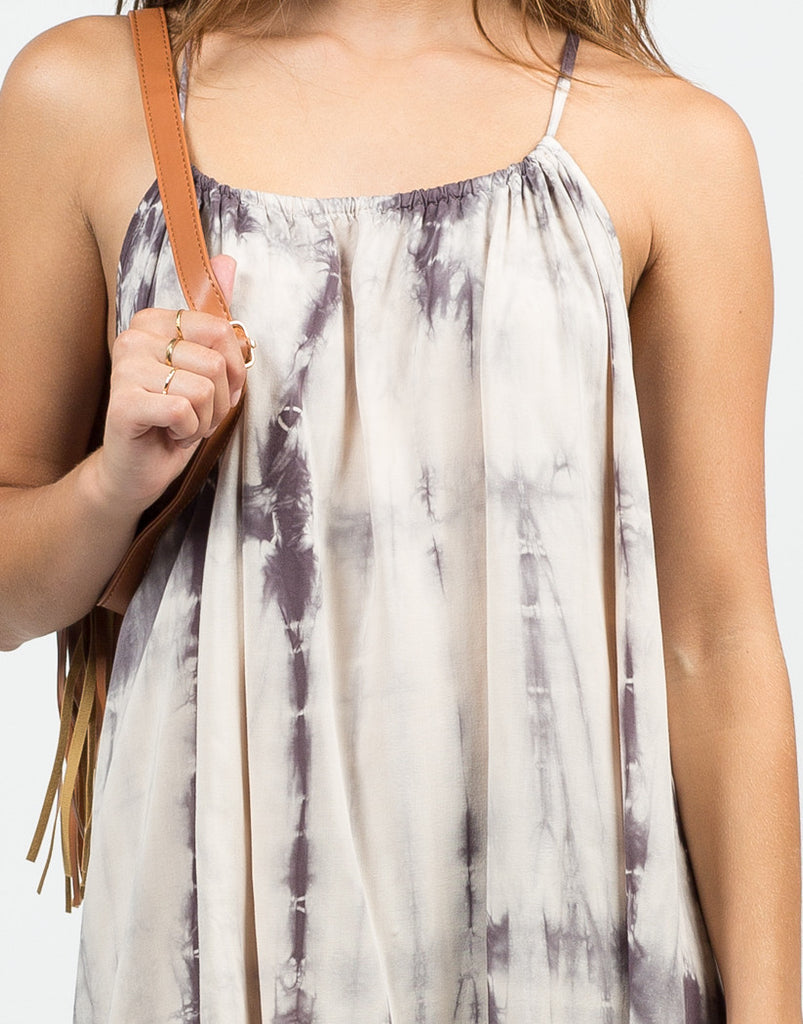 Detail of Tie-Dye Tunic Dress