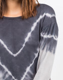 Detail of Tie-Dye V Tunic Sweater