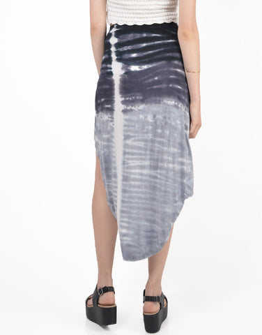 Back View of Tie-Dye With a Twist Skirt