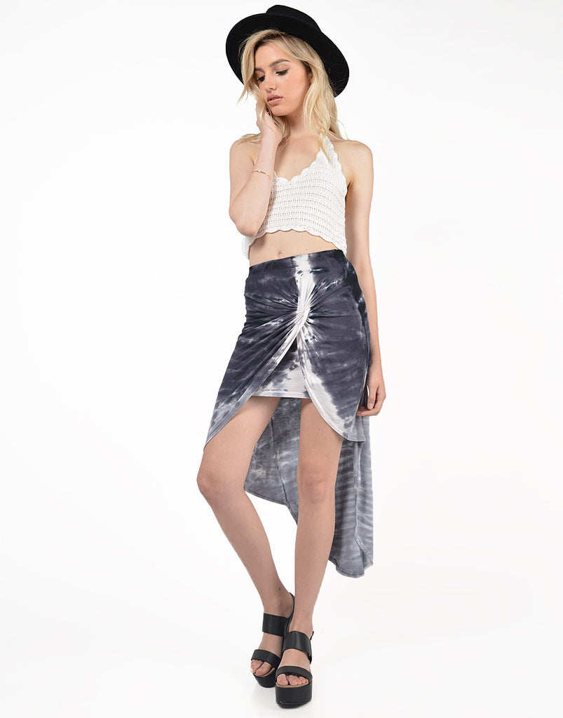 Front View of Tie-Dye With a Twist Skirt