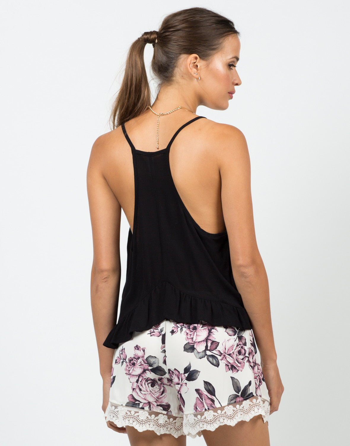 Back view of Tiered Cami Tank