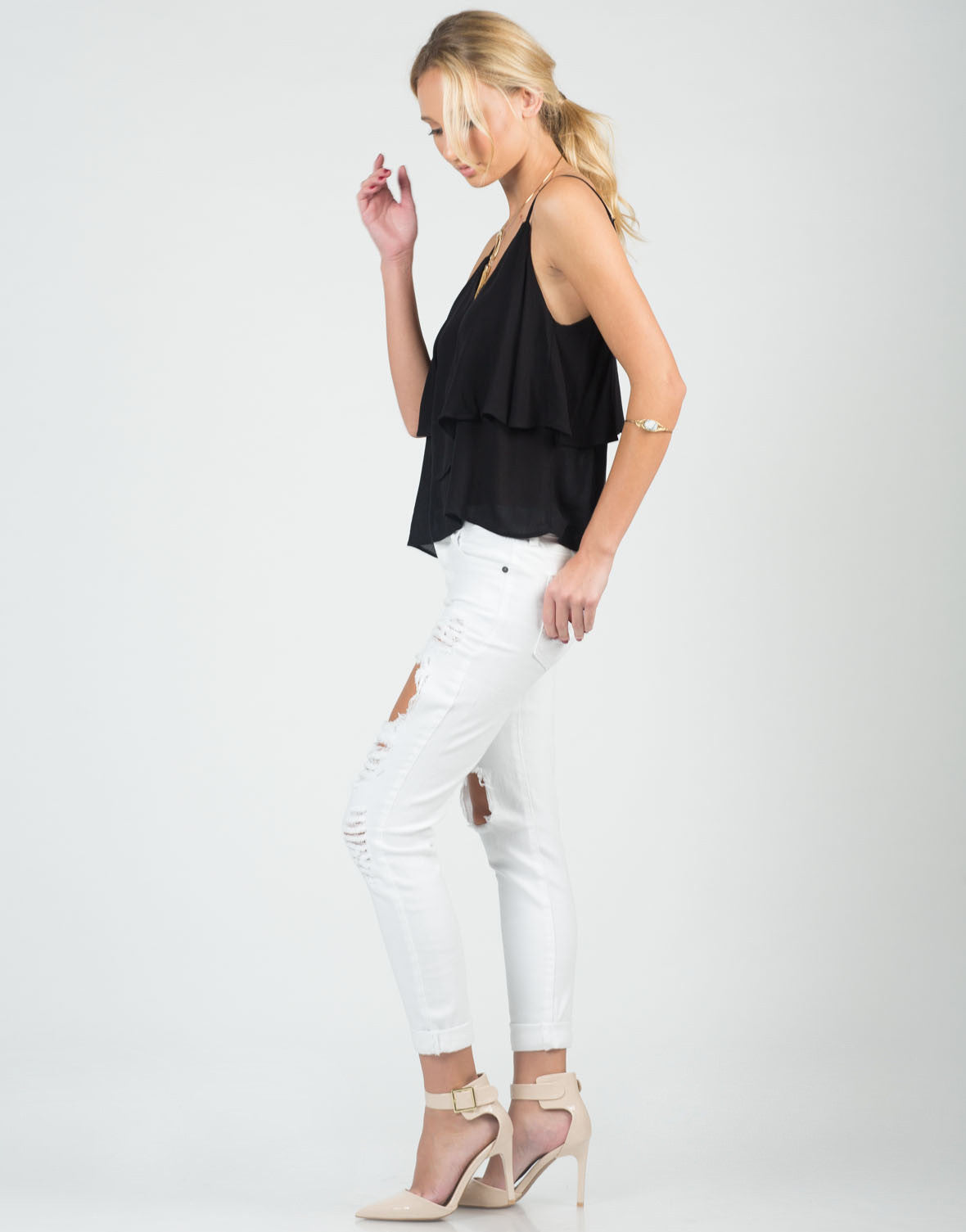 Tiered Flowy Cami Top