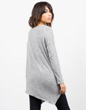 Back View of Tiger Brushed Asymmetrical Top