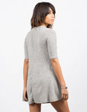 Back View of Tiger Brushed Swing Dress