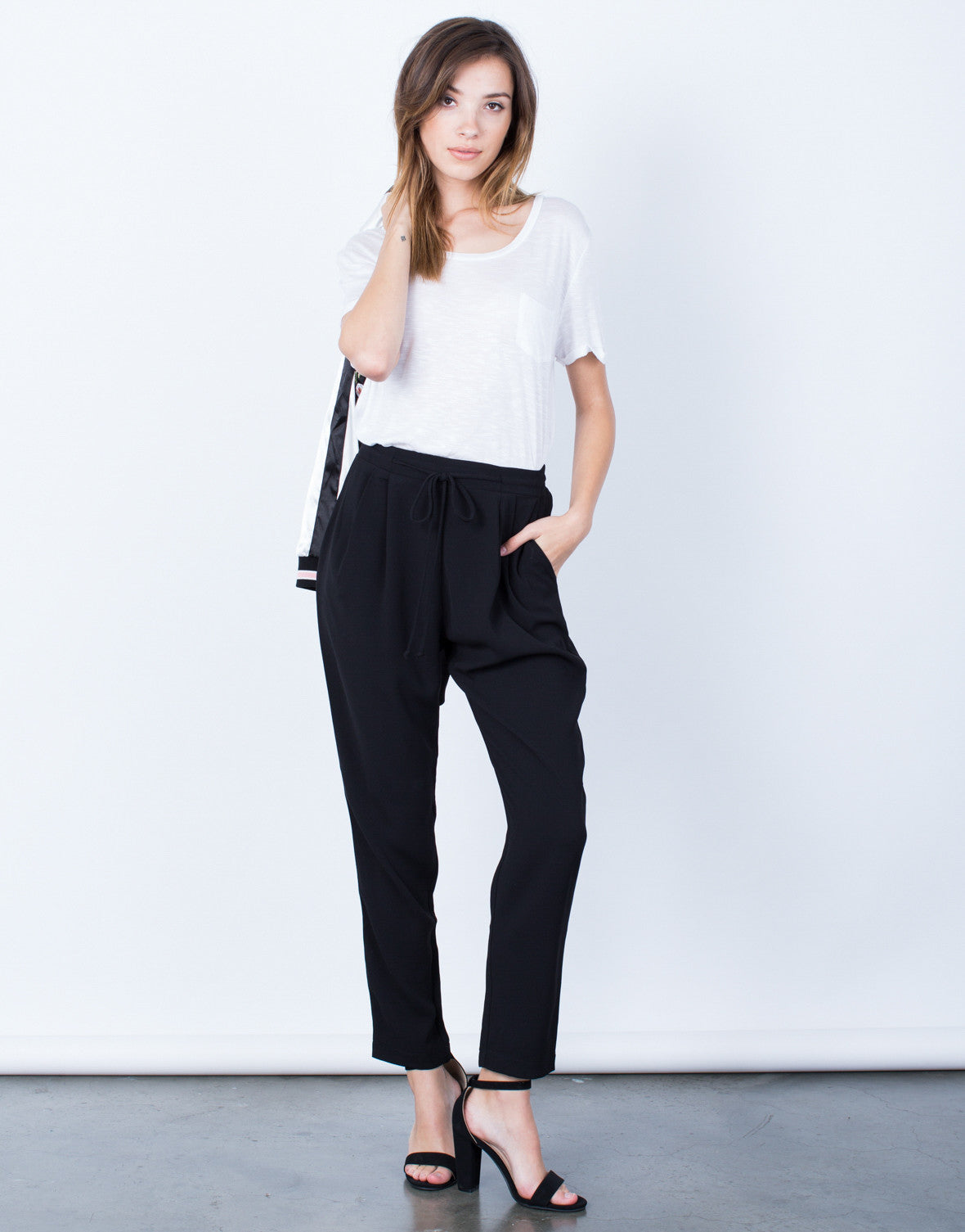 Front View of Timeless Drawstring Pants