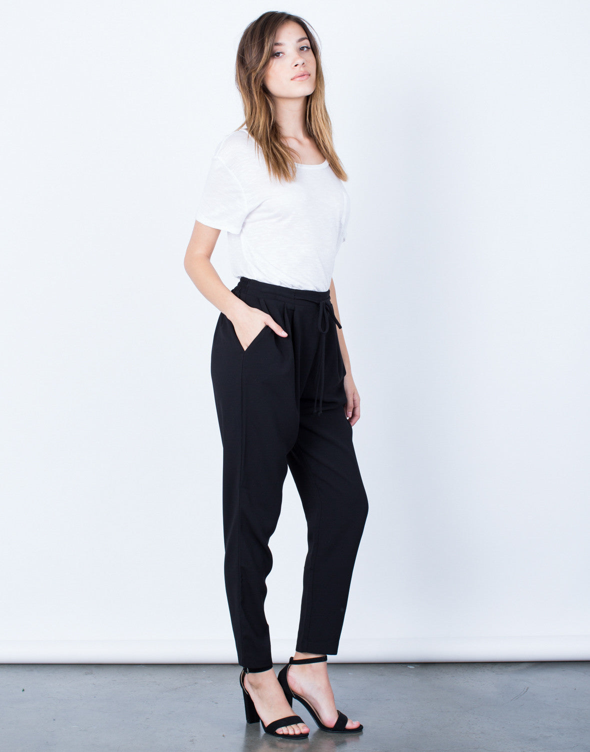 Side View of Timeless Drawstring Pants