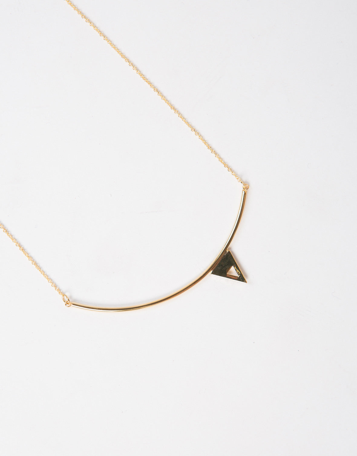 Tiny Triangle Necklace