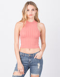 Front View of To the Neck Cropped Tank