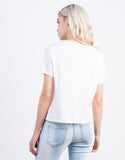 Back View of Top Model Cropped Tee