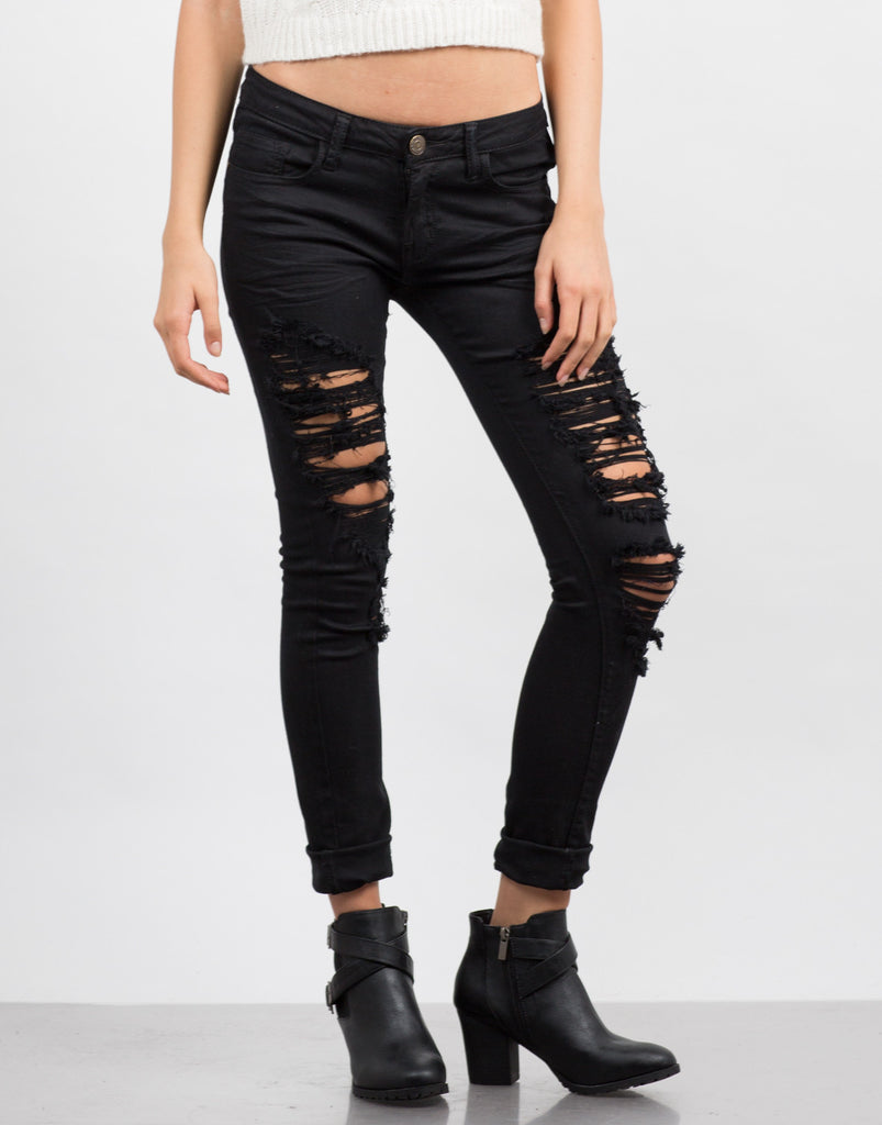 Torn Skinny Jeans - 2020AVE