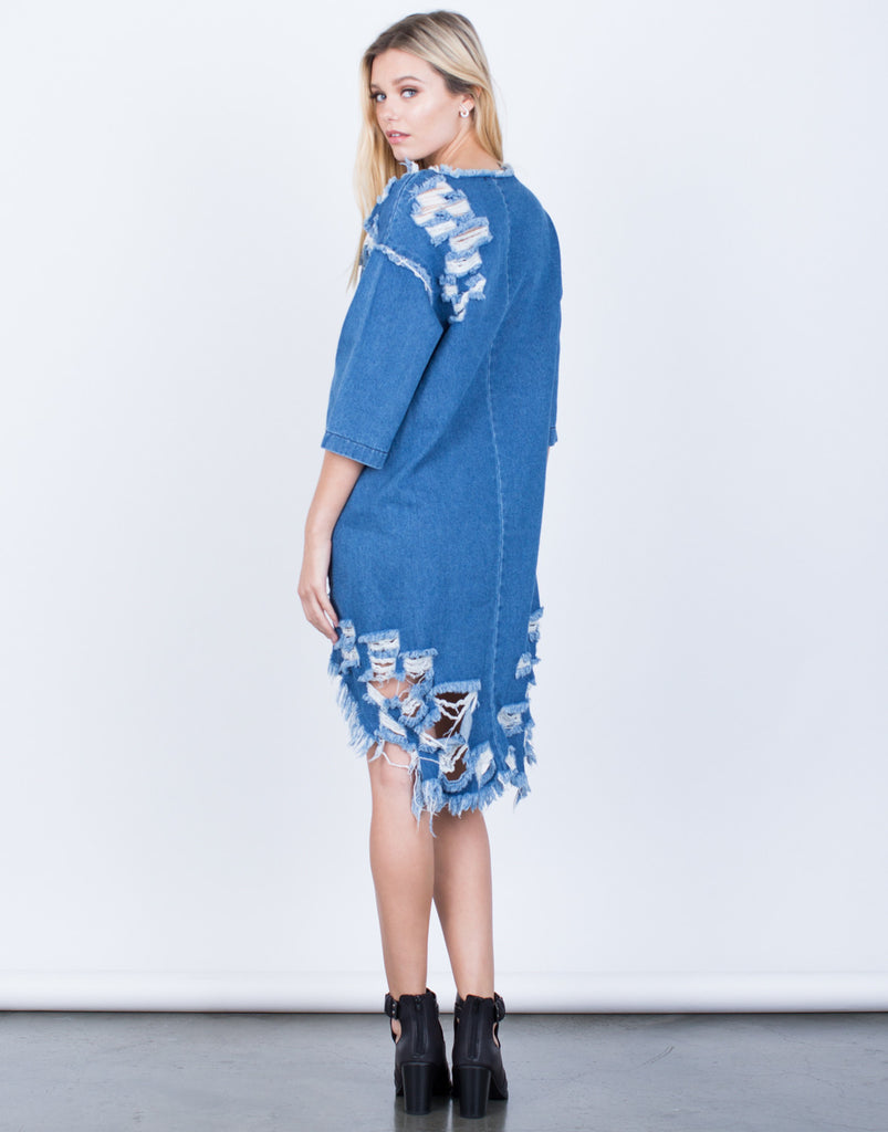 Totally Shredded Denim Dress - 2020AVE