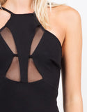 Detail of Total Mesh Bodycon Dress