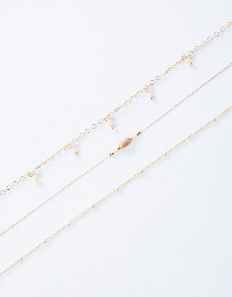 Gold Traveling Beads Choker Set- Front View