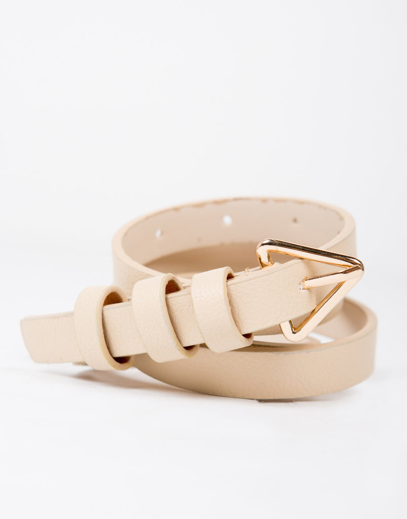 Triangle Buckled Thin Belt