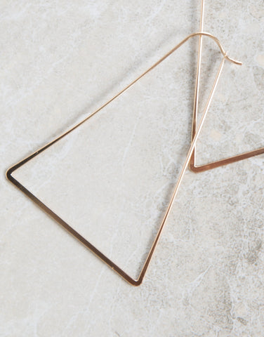 Triangular Cut Out Earrings